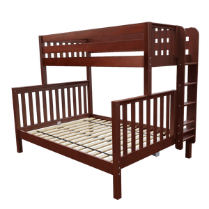 Maxtrix High Twin XL Over Queen Bunk Bed with Ladder
