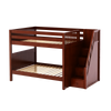 Maxtrix Full Medium Bunk Bed with Stairs