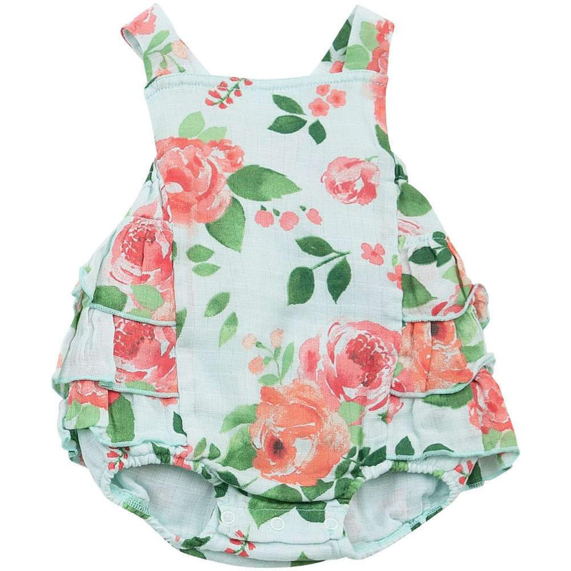 Angel Dear Rose Garden Ruffle Sunsuit