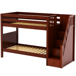 Maxtrix Twin Medium Bunk Bed with Stairs