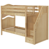 Maxtrix Twin Curved Bunk Bed with Stairs