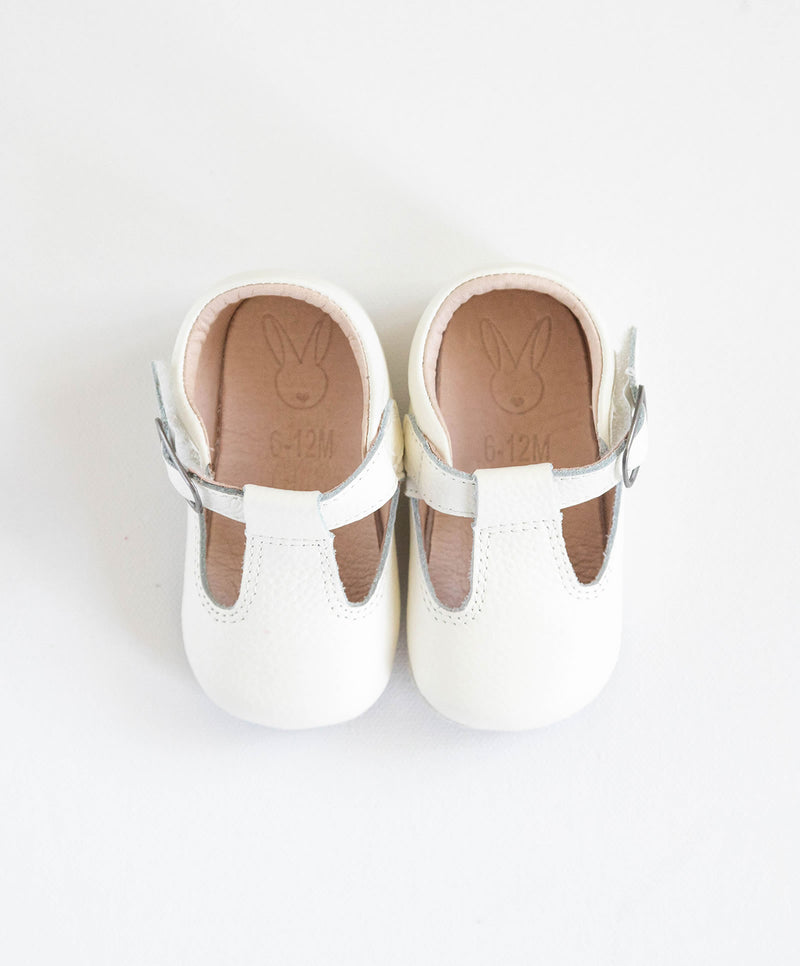 The Shaughnessy Shoe White by Aston Baby 0-6m