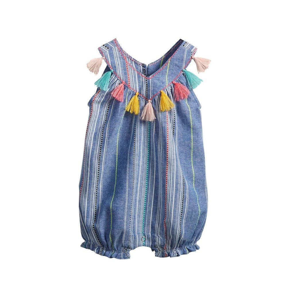 Mud Pie Chambray Tassel Bubble