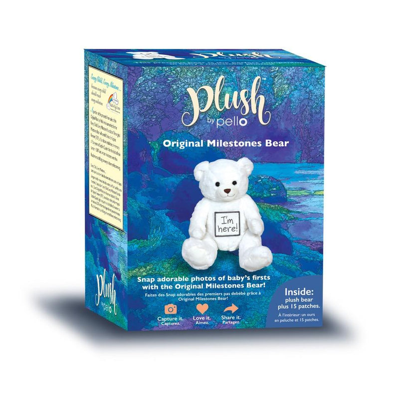 Pello White Milestone Bear