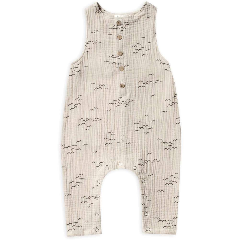 Rylee + Cru Flock Button Jumpsuit