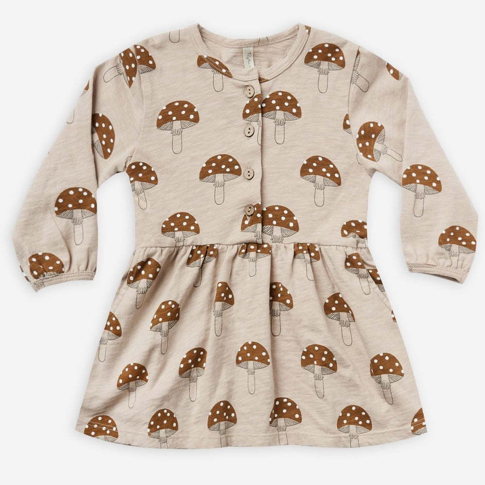 Rylee + Cru Button Up Dress | mushroom