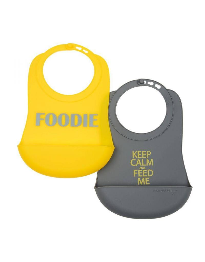 Chewbead Silicone Bibs 2 Pack