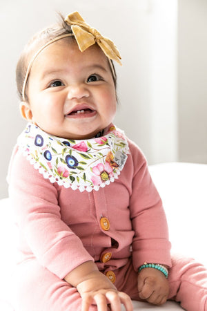 Copper Pearl Fashion Bib Set - Isabella