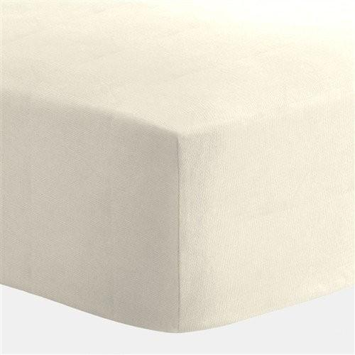 Liz & Roo Ivory Cotton Crib Sheet