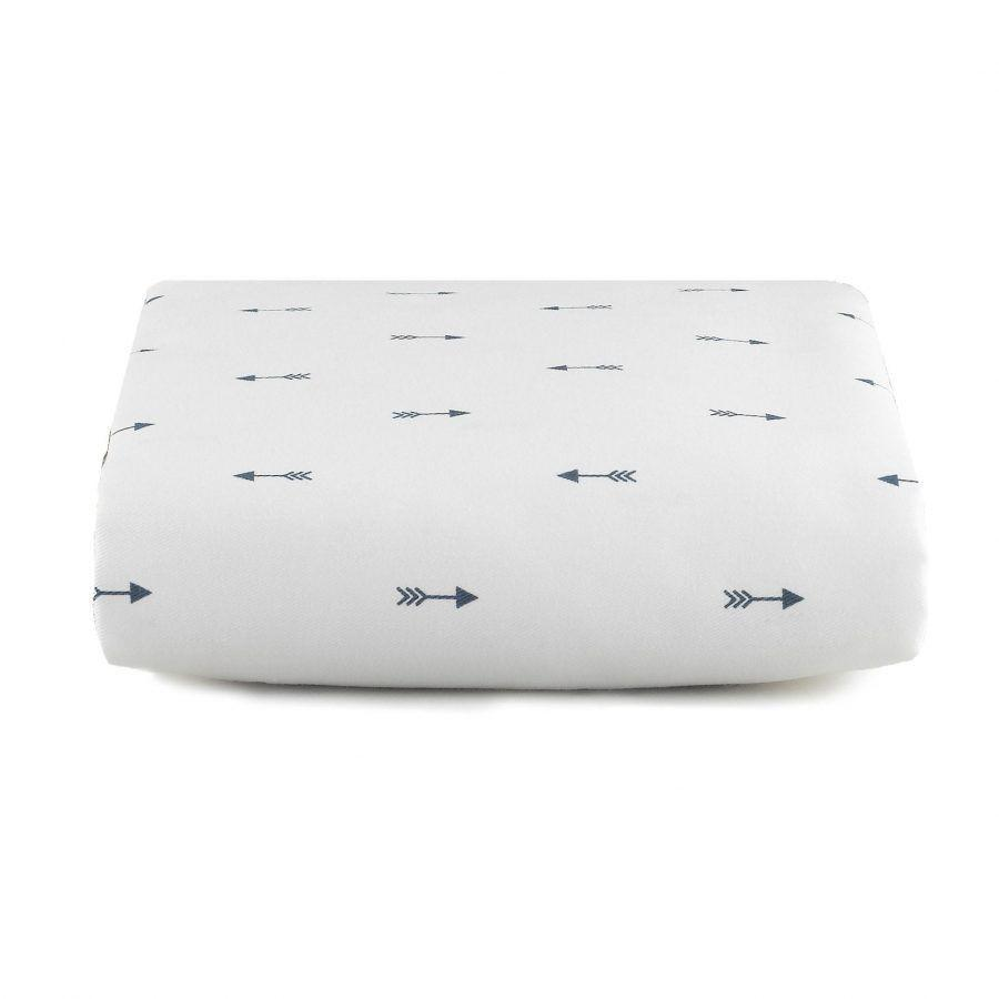 Liz & Roo Navy Mini Arrows Crib Sheet