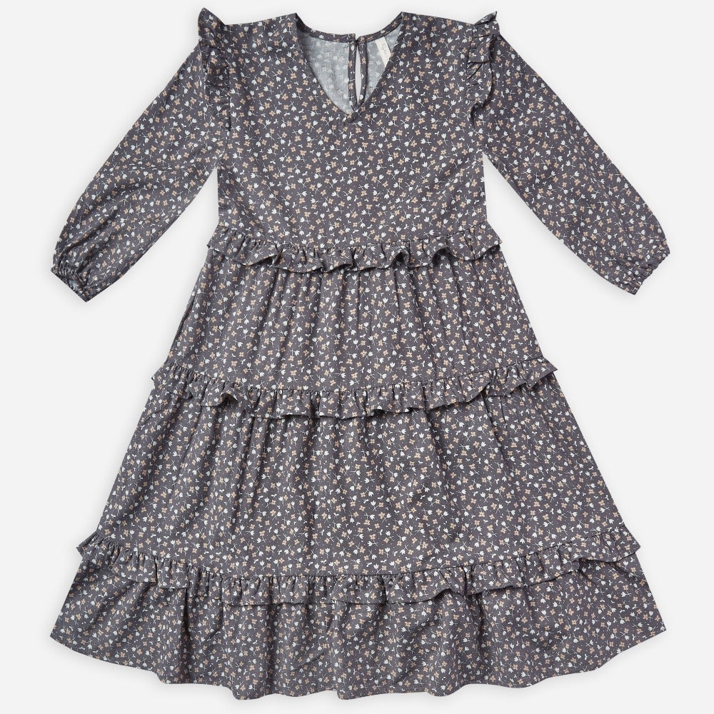 Rylee + Cru Mabel Dress | washed indigo ditsy