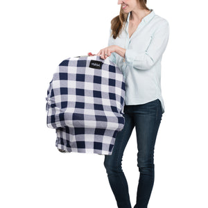 Milk Snob Cover Navy Plaid