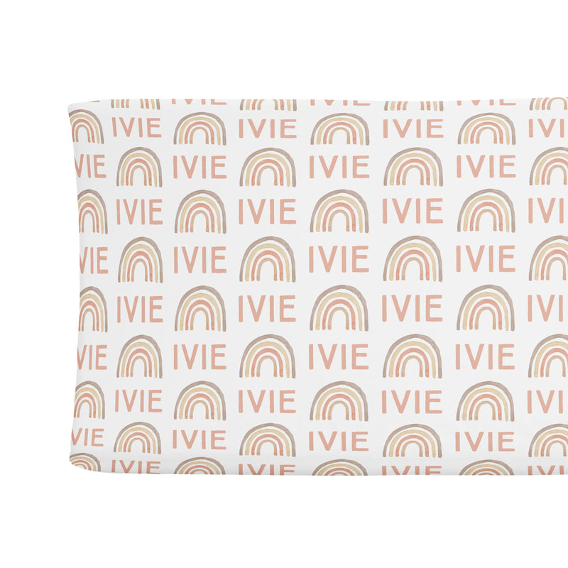 Sugar + Maple Changing Pad Cover - Rainbow Neutral