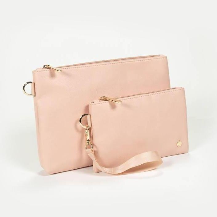 Little Unicorn Vegan Leather Pouch Set - Blush