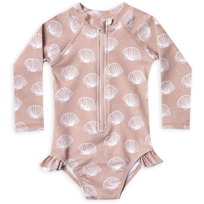 Rylee + Cru Seashell Rashguard One-Piece