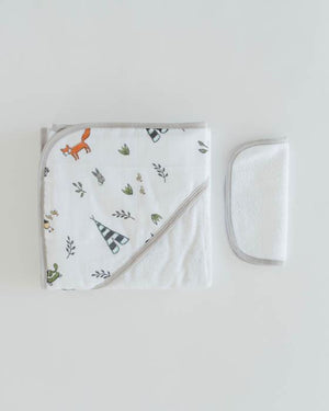 Little Unicorn Hooded Towel & Washcloth Set