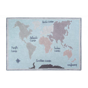Lorena Canals Vintage Map Washable  Rug