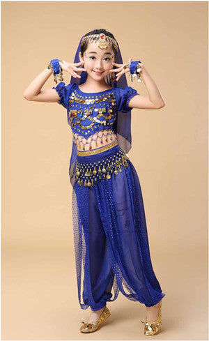 Bollywood Indian Dresses Sari Dance Costumes 3,4,5Pcs Dress Belly Dance  Sale Indian Clothes Kids