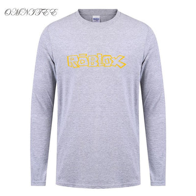 Spring Autumn Roblox T Shirt Men Cotton Roblox Long Sleeve T