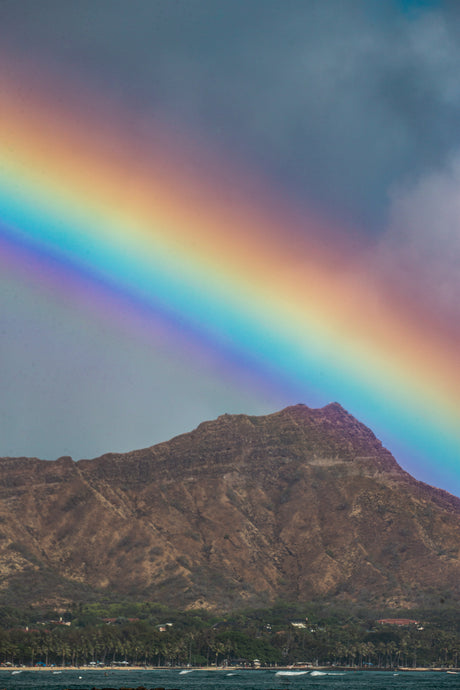 Rainbow Diamond Head by Jackie Fiero