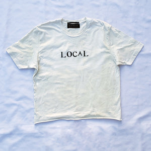 Hand-Stamped Local Tee - Beige