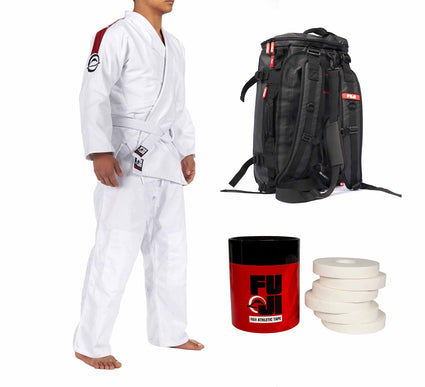 FUJI Training Judo Gi & Comp Duffle Bundle (3 Items)