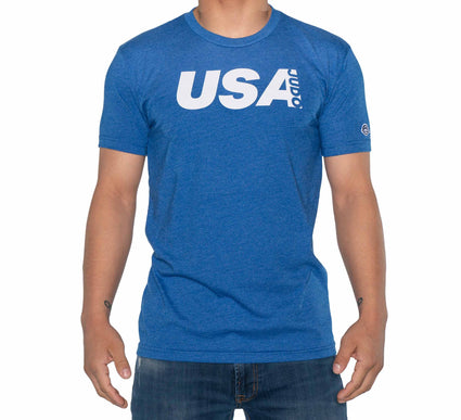 USA Judo Crew T-Shirt Blue