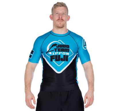 Peak Judo Short Sleeved Rashguard Blue