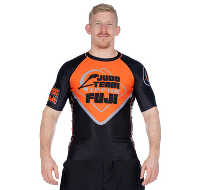 Peak Judo Short Sleeved Rashguard Orange