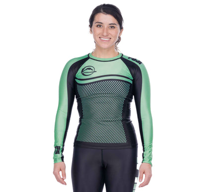 Script Women's Long Sleeve Rashguard Green