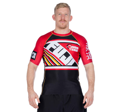 Skyline Black/Red Short Sleeve Rashguard