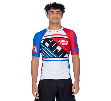 Skyline Red/White/Blue Short Sleeve Rashguard