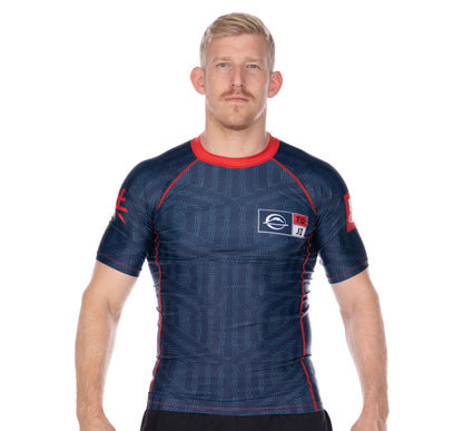 Team FUJI Short Sleeve Rashguard Blue