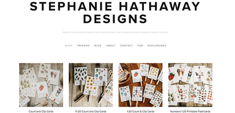 Stephanie Hathaway Designs Website