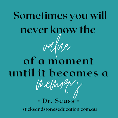 quote about the value of a moment
