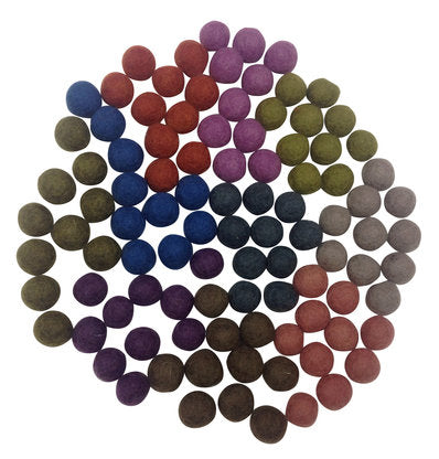 Felt Marbles Autumn Colours - Sticks & Stones Education