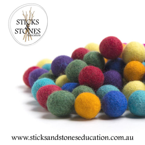 Felt Marbles - Sticks & Stones Education