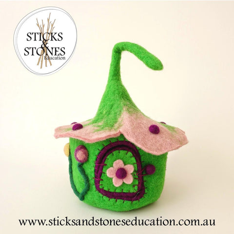 Pink and Green Buttercup Fairy House - Sticks & Stones Education