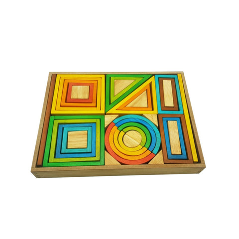 rainbow nesting blocks set