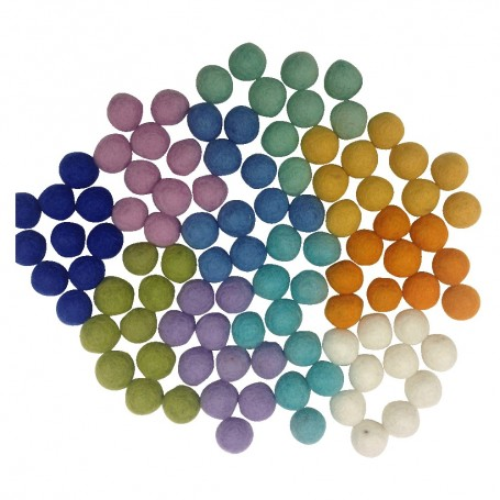 Felt Marbles Spring Colours - Sticks & Stones Education