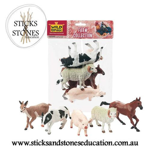 Farm Animals Polybag - Sticks & Stones Education