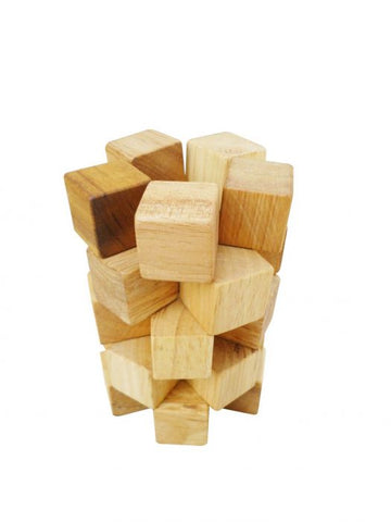 Natural Wooden Counting Cubes