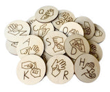 Auslan Alphabet Discs Capital Letters - Sticks & Stones Education