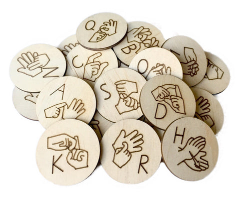 Auslan Alphabet Discs - Sticks & Stones Education