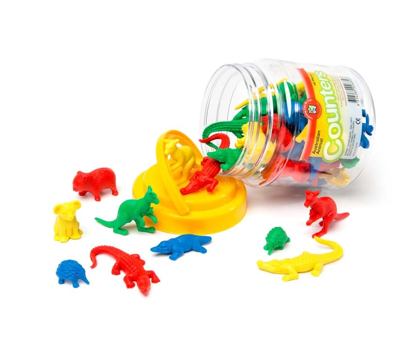 Australian animal plastic counters for the classroom environment