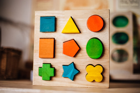 Wooden Shape Puzzle - Chunky