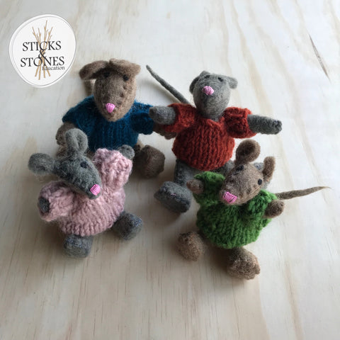 Felt Mouse Family - Sticks & Stones Education