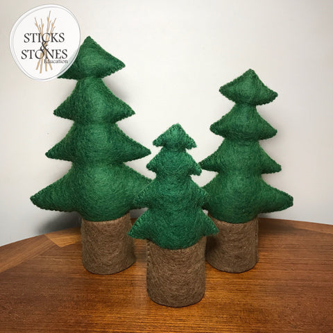 Felt Pine Trees - Set of 3