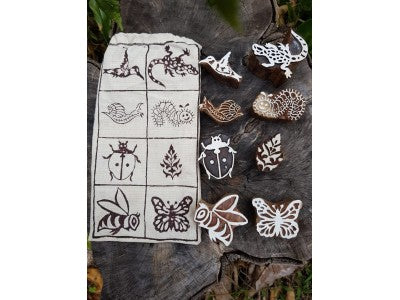 Garden Wooden Block Print Stamps