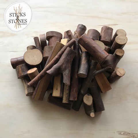 Natural Tree Blocks - Sticks & Stones Education